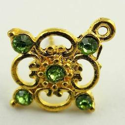 12 pairs Gold Color Solid Alloy Flower Stud Earring Finding