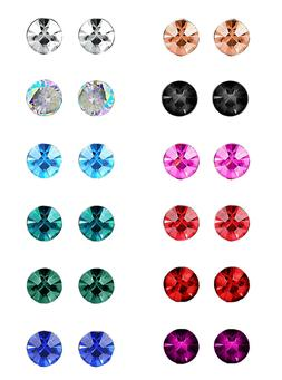 LOYALLOOK 12 Pairs Stainless Steel Square CZ Ear Piercing Bi