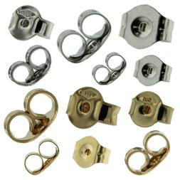 14K Solid White & Yellow Gold Replacement Single Push Back f