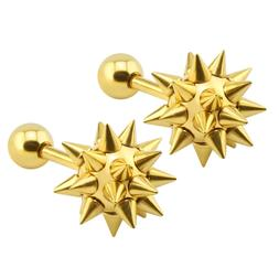 16g 316L Surgical Stainless Steel Spiked Ball Stud Earrings