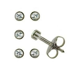 3 Pairs Mini Surgical Stainless Steel Ear Piercing  April RD