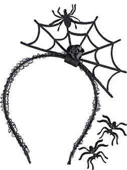 3 pieces halloween spider earrings studs web