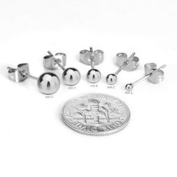 316l surgical stainless steel earrings round ball
