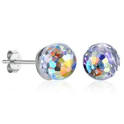 3prs 24K Over Surgical Stainless Steel Ear Piercing Aurora B
