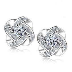 925 Sterling Silver Women Jewelry Love Forever Elegant Cryst