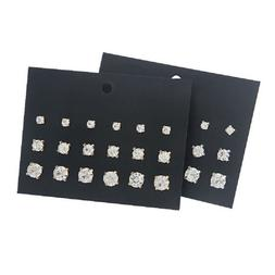 9Pairs Ear Studs Earrings Punk Pack Mixed Stud Earring For W