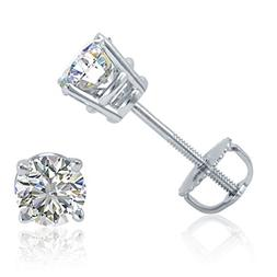 AGS Certified  1/2ct tw Round Diamond Solitaire Stud Earring