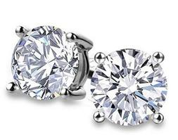 Amazon Collection Sterling Silver 7.5 mm Cubic Zirconia Stud