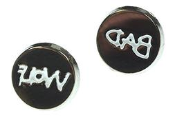 Doctor Who Bad Wolf Enamel Stud Earrings