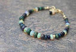 black opal gemstone bracelet real