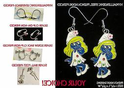 Blue Girl Earrings OR Necklace *OPTIONS* Hypoallergenic OR C