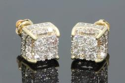 Created White Sapphire 18K yellow gold filled Brilliant Scre
