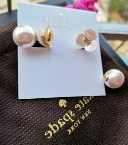 Kate Spade New York Disco Pansy mother of pearl Stud Earring
