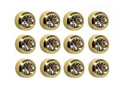 Caflon Ear Piercing Bezel Earrings Studs Mini April C/Z Gold