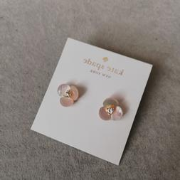 Kate spade new york earrings gold tone cream disco pansy flo