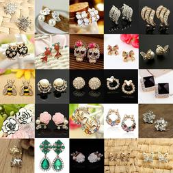 Elegant Fashion Women Lady Girls Crystal Rhinestone Flower E