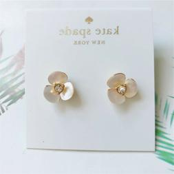 Kate Spade Fashion Disco Pansy Mother Of Pearl Stud Flowers