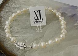 freshwater cultured pearl bracelet with japanese pearl
