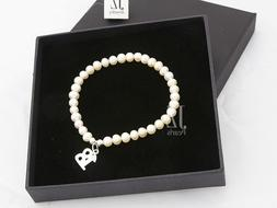 Freshwater Cultured Pearl Bracelet with S/Silver 18th Charm