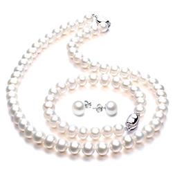 Freshwater Cultured Pearl Necklace Set Includes Stunning Bra