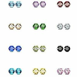 JewelrieShop Girl Stud Earrings Set Tiny Small Colorful Eari