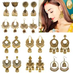 Indian 22K Gold Plated Earrings Jhumka Drop Dangle Bollywood