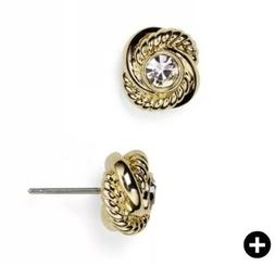 Kate Spade Infinity And Beyond Knot Stud Gold Earrings NWT