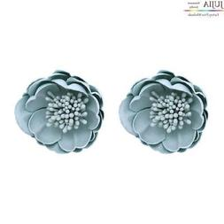 JUJIA 6 colors Women's Trendy flower Ear Studs Top Seller Br