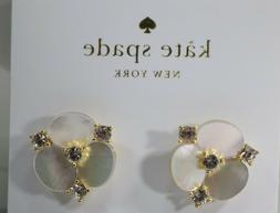 Kate Spade Gold Tone Disco Pansy Large Studs in Cream WBRUH0