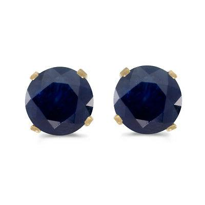 1 carat total weight natural round sapphire