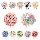 1 Pair Elegant Flower Women Crystal Rhinestone Ear Stud Fash