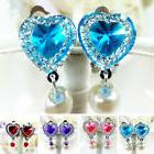1 Pair Fake Non-Piercing Rhinestone Clip-On Earrings for Kid
