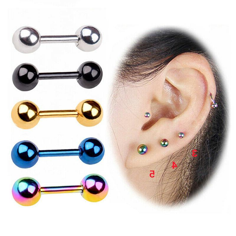 Surgical Steel Stud Screwback Round Baby Double