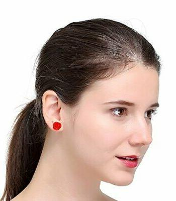 LOYALLOOK Assorted Colors Resin Earring Studs Set