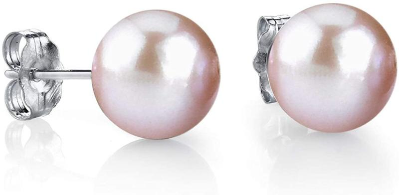 The Pearl Source 14K Gold Round Pink Freshwater Cultured Pea