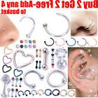 16G Surgical Steel Labret Lip Ring Tragus Helix Earring Stud