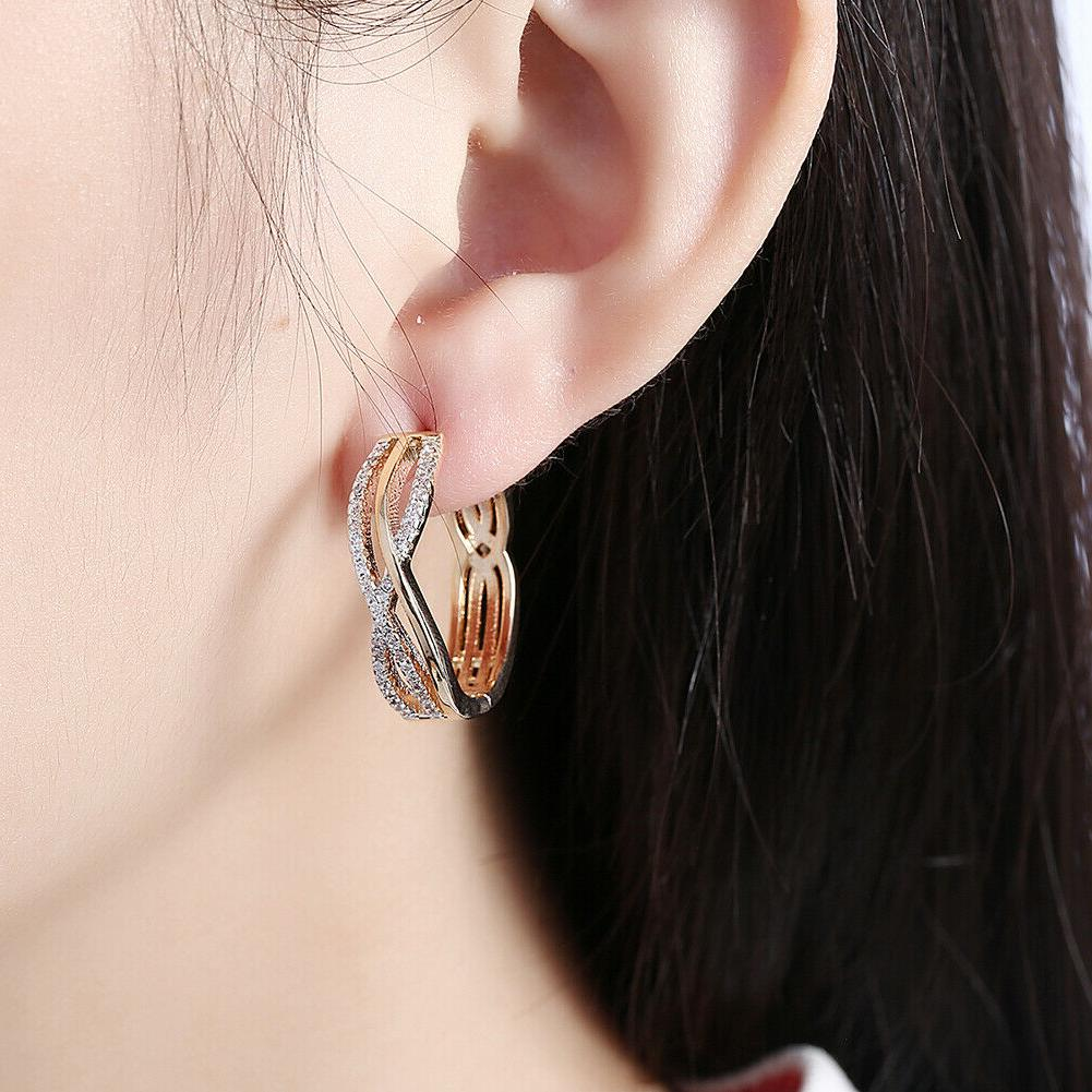 18K Gold Large Twist Design Earring with