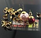 ✤ 20 x 8mm GOLD CUP EARRING STUD FINDINGS FOR BEADS PEARLS