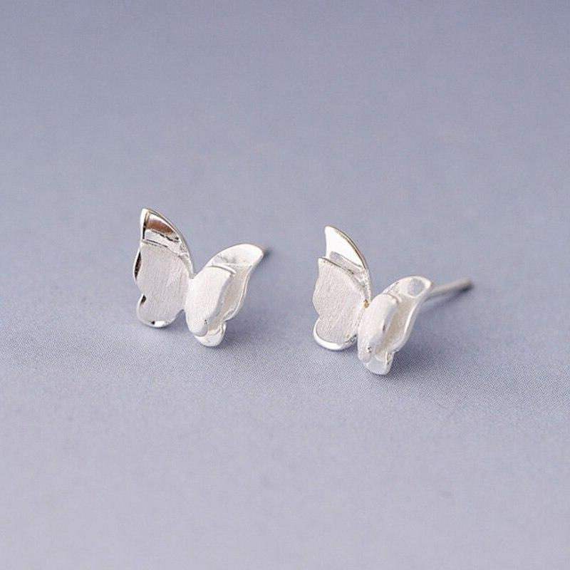 2019 Jewelry Beautiful Small Drawbench Butterfly Silver 1Pair Girls