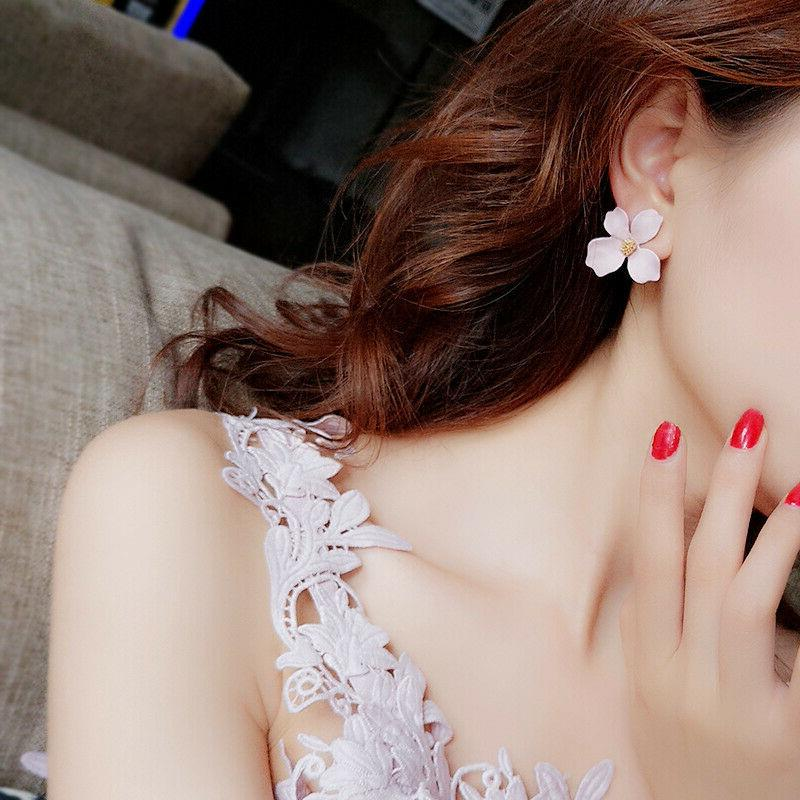 2019 New Fashion Painting Ear Stud Women Charm Jewelry