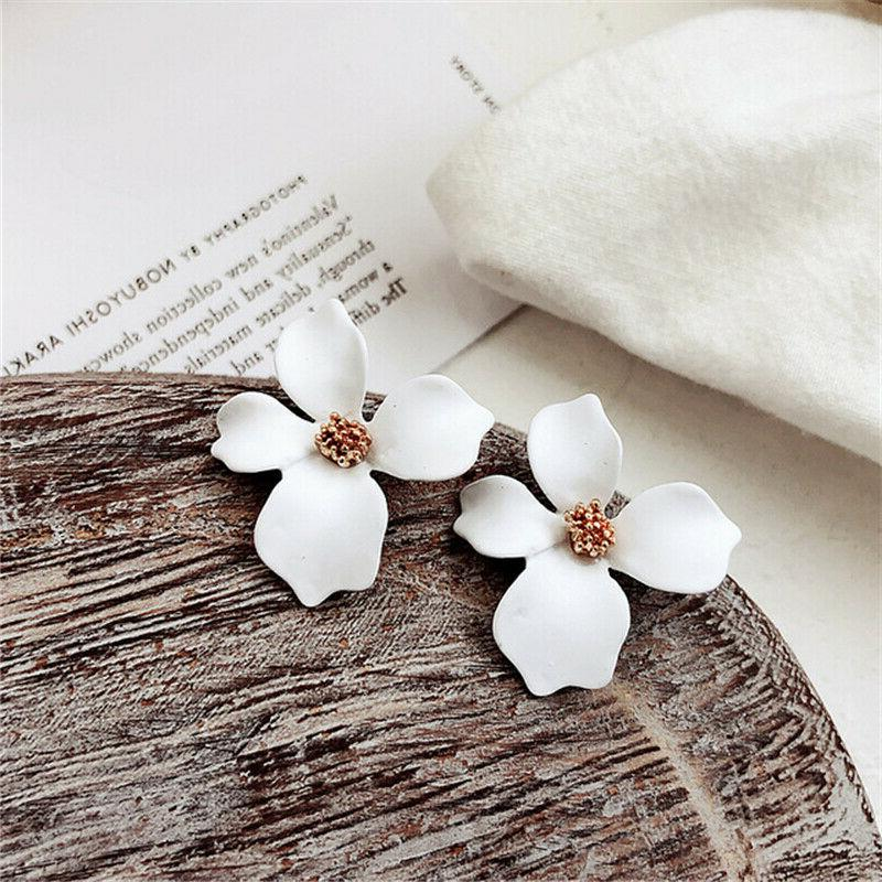 2019 New Fashion Painting Flowers Stud Jewelry