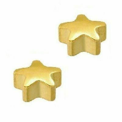 24ct gold plated star stud 12 pack