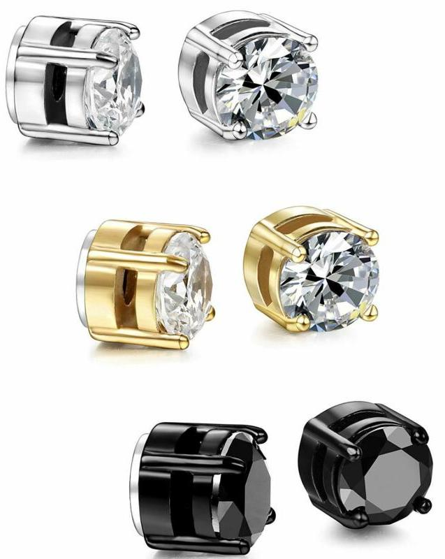 Magnetic Stud Stainless Steel Men Stone Pairs