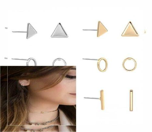 6 pairs women s geometric triangle circel