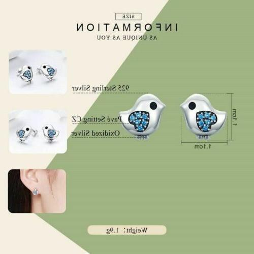 925 Sterling Color Bird Stud to 40 Delivery