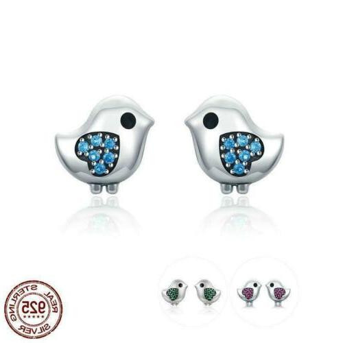 925 sterling silver 3 color little bird