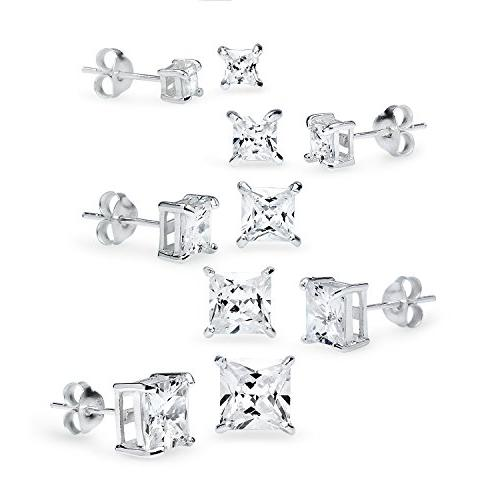 925 sterling silver 5 pair set of