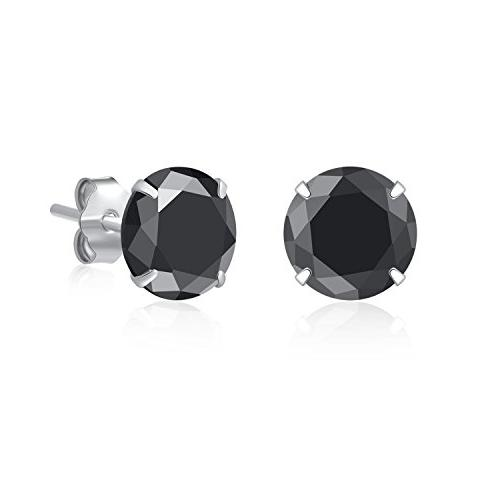 925 sterling silver black cubic zirconia 3mm