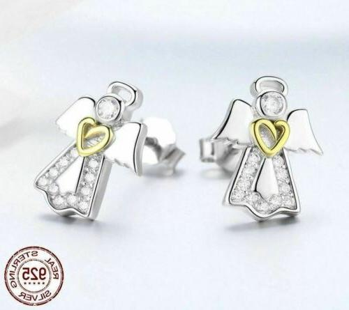 925 Angel Stud Earrings. 20 to 40 Days Delivery