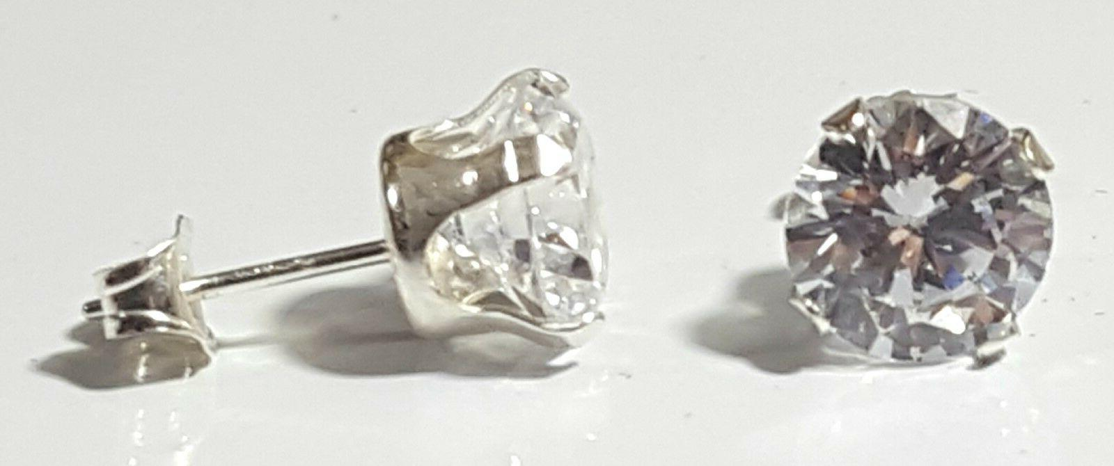 925 Sterling Cut Clear Stud Assorted